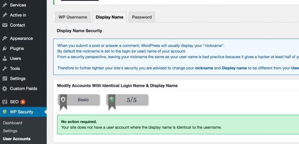 Admin bij WordPress-website beveiliging
