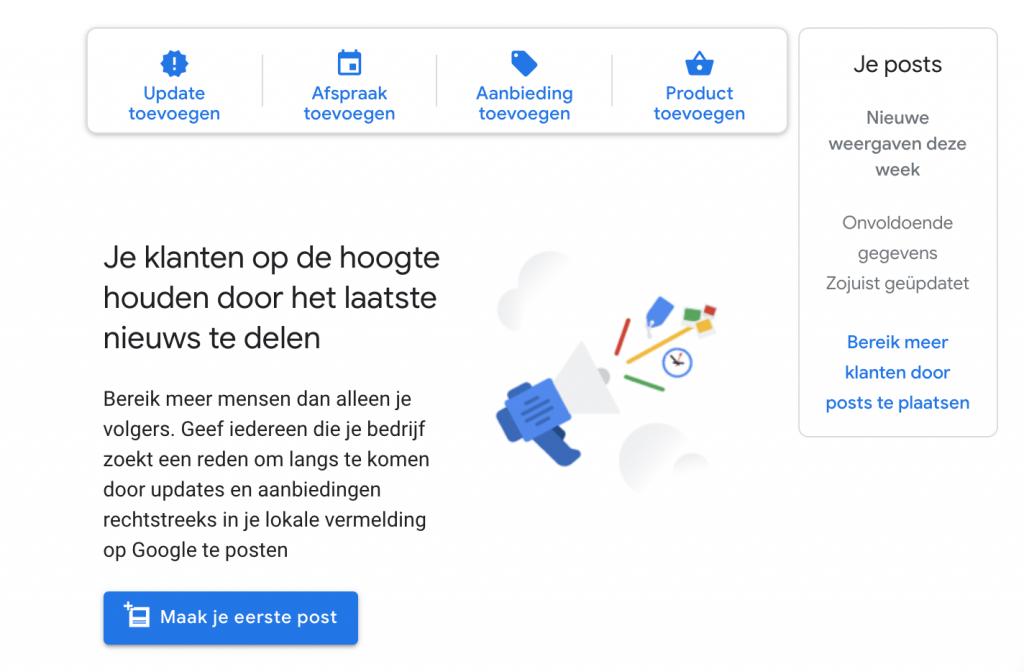 Posts in Google Mijn Bedrijf
