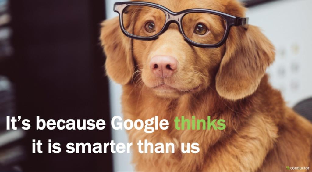 Google vindt zichzelf slimmer dan gebruikers
