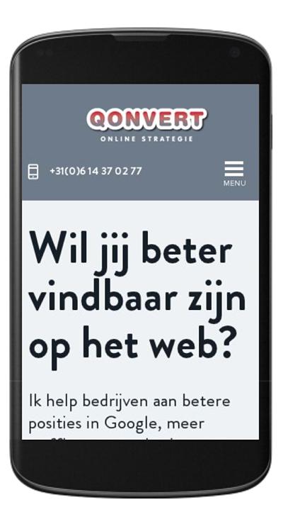 Screenshot responsive Qonvert site